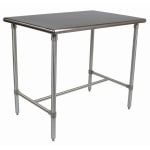 "John Boos BBSS4830 48"" 18-ga Work Table w/ Open Base & 300-Series Stainless Flat Top"