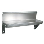 "John Boos BHS536R6 5x36"" Wall Shelf - 4"" Riser, 16 ga Stainless"