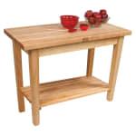 "John Boos C02S Work Table w/ 1-3/4"" Hard Rock Maple Top, 1-Shelf, 24 x 48"""