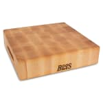 "John Boos CCB121203 Chopping Block w/ Grips, 12x12x3"", Hard Rock Maple, Reversible"