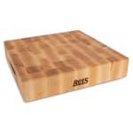 "John Boos CCB151503 Chopping Block w/ Grips, 15x15x3"", Hard Rock Maple, Reversible"