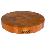"John Boos CHY-CCB15-R Cherry Wood Chopping Block, Non-Reversible, 15"" Diameter 3"" End Grain"