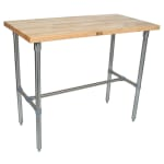 "John Boos CUCNB02 Cucina Americana Classico Table, Hard Maple, 48 x 24 x 36"" H"