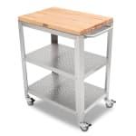 """John Boos CU-CULART30 Cucina Culinarte' Cart, 20""""W x 30""""L x 35""""H, Removable Top, Stainless Shelf"""