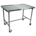John Boos CU-MAR4830-40 Mariner Table w/ Center Bracing, Stainless Top & Legs, 48x30x40""