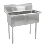 "John Boos E2S8-18-12 41"" 2-Compartment Sink w/ 18""L x 18""W Bowl, 12"" Deep"