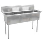 "John Boos E3S8-1014-10 35"" 3-Compartment Sink w/ 10""L x 14""W Bowl, 10"" Deep"