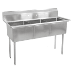 "John Boos E3S8-24-14 77"" 3 Compartment Sink w/ 24""L x 24""W Bowl, 14"" Deep"