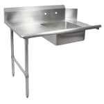 "John Boos EDTS8-S30-L72 72"" Soiled Dishtable w/ Galvanized Legs & 18 ga Stainless Top, L to R"