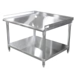 John Boos EES8-3024 Equipment Stand w/ Adjustable Galvanized Undershelf & Legs, 24 x 30""