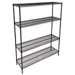 "John Boos EP-213674-BK Epoxy Coated Wire Shelf Kit - 36""W x 21""D x 74""H"