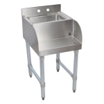 "John Boos EUBBS-1410 Underbar Blender Station Dump Sink w/ 14 x 10 x 6"" Bowl, 21 X 18"""