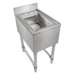 "John Boos EUBDS-1014 Underbar Dump Sink w/ Galvanized Legs, 14x21x30"""