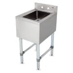 "John Boos EUBDS-1014-SL Underbar Dump Sink w/ Galvanized Legs, 14x18x30"""