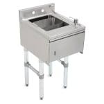 "John Boos EUBDS-1521STD Underbar Dump Sink w/ Galvanized Legs, 15x21x33.125"""