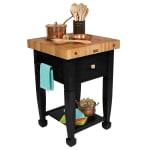 """John Boos JASMN24243-D-S BK Jasmine Hard Maple Table, 24 x 24"""", Black"""