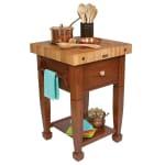 "John Boos JASMN24243-D-S CR Jasmine Hard Maple Table, 24 x 24"", Cherry"