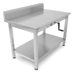 "John Boos LT6R5-3060SSW 60"" 16 ga Work Table w/ Undershelf & 300 Series Stainless Top, 5"" Backsplash"