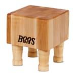 "John Boos MCB1 Mini Cheese Block, Hard Maple, 4 Wooden Feet, 6 x 6 in, 4"" Thick"