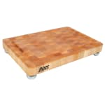 "John Boos MPL1812175-SSF Cutting Board, Maple, Juice Groove, Stainless Bun Feet, 18 x 12 x 1 3/4"" Thick"