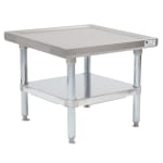 "John Boos MS4-2424GSK 24"" Mixer Table w/ Galvanized Undershelf Base, Shipped Knocked Down, 24""D"