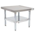 "John Boos MS4-2424GSK 24"" Mixer Table w/ Galvanized Undershelf Base, Shipped Knocked Down, 24""D"