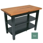 "John Boos OC4825 2S BS American Heritage Oak C Table, 2-Shelves, 48 x 35"" H, Basil"