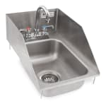 "John Boos PB-DISINK101405-P-SSLR 12.5"" 1-Compartment Sink w/ 10""L x 14""W Bowl, 5"" Deep"