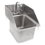 "John Boos PB-DISINK101410-P-SSLR 12.5"" 1-Compartment Sink w/ 10""L x 14""W Bowl, 10"" Deep"