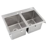 "John Boos PB-DISINK141612-2 (2) Compartment Drop-in Sink - 14"" x 16"""