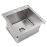 """John Boos PB-DISINK201612 (1) Compartment Drop-in Sink - 20"""" x 16"""", Drain Included"""