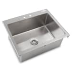 "John Boos PB-DISINK282012 (1) Compartment Drop-in Sink - 28"" x 20"", Drain Included"