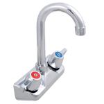 John Boos PBF-4-S Standard Economy Gooseneck Faucet for Splash Mount, 3.5-in Spout, 4-in On-Center