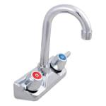 """John Boos PBF4SLFX Splash Mount Economy Faucet w/ 3.5"""" Gooseneck Spout"""