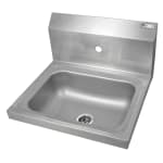 "John Boos PBHS-W-1410-1 Wall Mount Commercial Hand Sink w/ 14""L x 10""W x 5""D Bowl, Basket Drain"