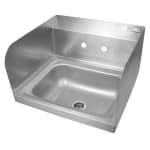 "John Boos PBHS-W-1410-SSLR Splash Mount Hand Sink w/ 2 Side Splash, 4"" On-Center, 14 x 10 x 5"" Bowl"