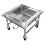 "John Boos PB-SS-208 20""H Portable Soak Sink w/ 8""D Bowl, Drain Connection"