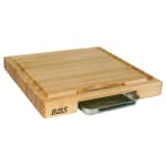 John Boos PM18180225-P Cutting Board Gift Collection w/ Pan & Maple Edge Grain, 18x18x2.25""