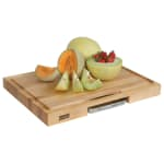 "John Boos PM2418225-P Gift Collection w/ 18x18x2.25"" Cutting Board, Pan & Juice Groove, Cream"