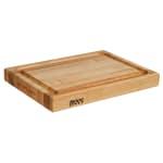 """John Boos RA02-GRV Cutting Board, Grooved w/ Handle Grips, 15x20x2.25"""", Hard Rock Maple"""