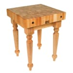 "John Boos SARB2-M 4"" Maple Top Butcher Block Work Table - 30""L x 24""W"