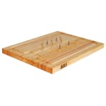 John Boos SLIC Slicer Board, Removable Meat Pins, Tree & Juice Groove, 20 x 15 x 1 1/4 in