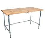 "John Boos SNB09 1.75"" Maple Top Work Table w/ Open Base, 60""L x 30""D"