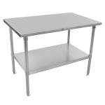 "John Boos ST6-2472SSK 72"" 16 ga Work Table w/ Undershelf & 300 Series Stainless Flat Top"