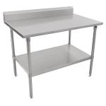 "John Boos ST6R5-24108SSK 108"" 16-ga Work Table w/ Undershelf & 300-Series Stainless Top, 5"" Backsplash"