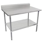 "John Boos ST6R5-24120GSK 120"" 16-ga Work Table w/ Undershelf & 300-Series Stainless Top, 5"" Backsplash"