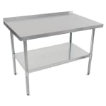 "John Boos UFBLG7230 72"" 18 ga Work Table w/ Undershelf & 430 Series Stainless Top, 1.5"" Backsplash"