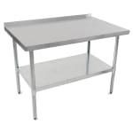 "John Boos UFBLG9630 96"" 18-ga Work Table w/ Undershelf & 430-Series Stainless Top, 1.5"" Backsplash"