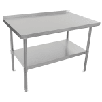 "John Boos UFBLS3630 36"" 18-ga Work Table w/ Undershelf & 430-Series Stainless Top, 1.5"" Backsplash"