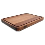 "John Boos WAL-TEN2015 Cutting Board w/ Juice Groove - Stainless Feet,  20x15x2"", American Black Walnut"